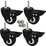 MySit 4pcs Stem Casters M8x25 with Brake Lock | 2...