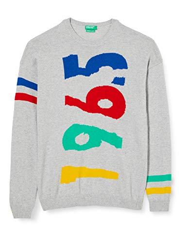 United Colors of Benetton (Z6ERJ) Jungen Maglia G/C M/L Pullover, Grigio 911, XXL