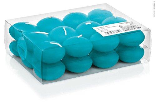 Schwimmkerze 24er 48mm azurblau
