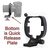 iShoot - Supporto per treppiede, per obiettivo Nikon PC-E Micro NIKKOR 45 mm f/2.8D ED e Nikon PC-E NIKKOR 24 mm f/3.5D ED e obiettivo inclinabile integrato, 46 mm Arca-Swiss Fit