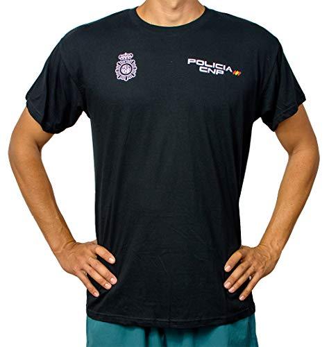 Alpimara Camiseta Policía Nacional 100% Algodon Adulto (Negro, 2XL)