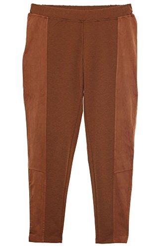 Sheego Schlupfhose Hose Pants Jeggings Legging Damen Stretch Plusgröße Kurzgröße, Farbe:braun;Damengrößen:46