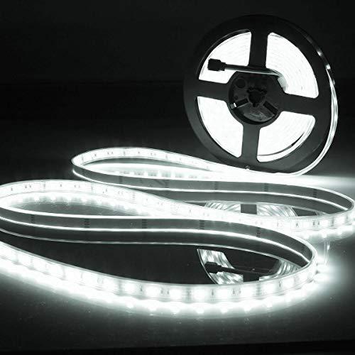 Zay Luay Luces 5M SMD5050 300 Impermeable IP67 LED Lámpara de la Barra de la decoración del hogar de la luz de la Tira de la Tira de la Cinta Flexible 12V (Color : White)