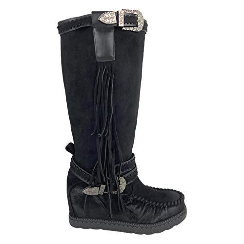 stivali zeppa interna donna shoes&blues.es 51069-Stivale con Zeppa