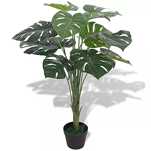 VidaXL Planta de Monstera Artificial con Macetero 70 cm Verde Maceta Plástico