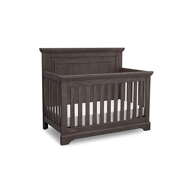 crib bedding and baby bedding simmons kids slumbertime paloma 4-in-1 convertible baby crib, rustic grey