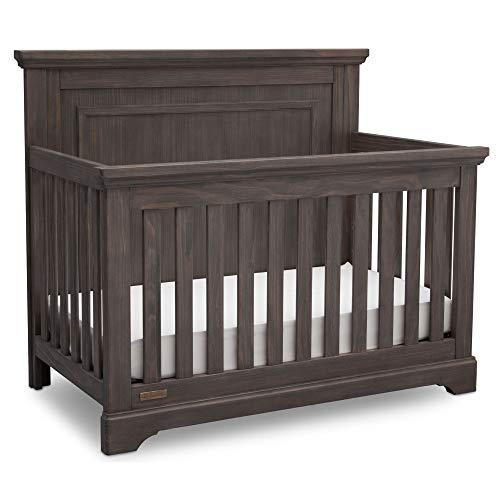 Simmons Kids SlumberTime Paloma 4-in-1 Convertible Baby Crib, Rustic Grey