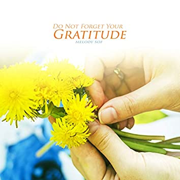 Do Not Forget Your Gratitude