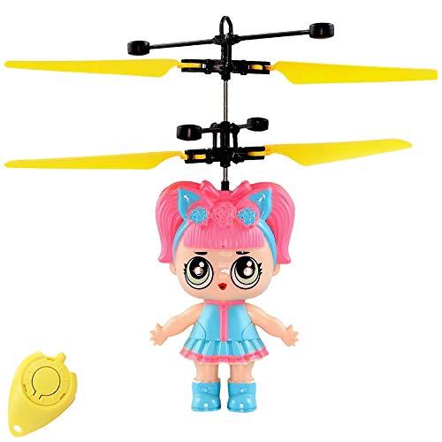 Freaky LoLa Cute Surprise Puppe (Rosa) RC Fliegende Puppe mit extra Hellen LED Augen - Einfach per Handbewegung steuerbar Super Geschenk für Mädchen Fliegende Fee Drohne für Mädchen