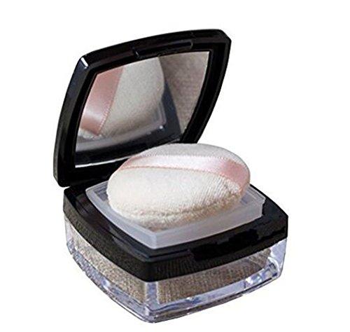 echo-ove 10 g 0,33 oz vacío cuadrado base maquillaje polvo contenedor aire cojín Puff caja con espejo Sifter polvo Puff