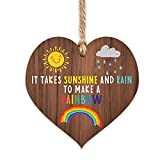 Rainbow gifts | Sunshine and Rain to make a Rainbow | thinking of you - miss you gifts for best friend Keyworker | cheer up gifts | inspirational gifts for women