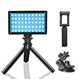 Luz de Video LED Cámara,RGB Luz de Video Portable 3200K-5600K CRI 95,Batería de Incorporada,Adecuado para Phone, iPhone, Android, iPad, fotografía