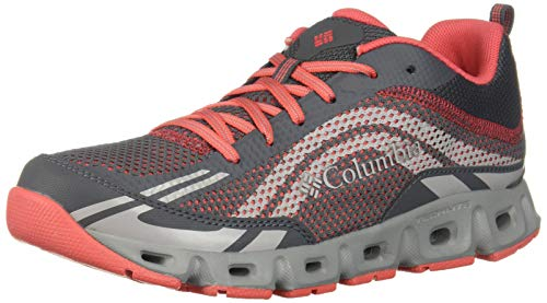 Columbia womens Drainmaker Iv Breathable Boat Shoe, Graphite, Red Coral, 9.5 US