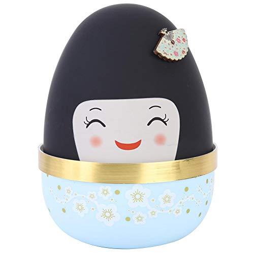 Caja de música con forma de muñeca de estilo japonés Caja de música hermosa Caja musical de juguete Decoración del hogar Regalo para niños