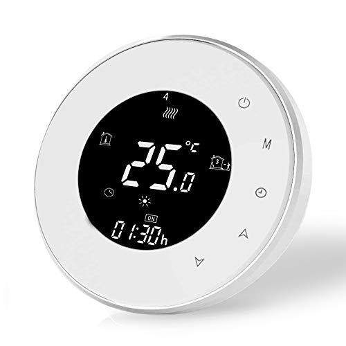 Termostato Wifi Inteligente Compatible con Alexa Google Home-Termostato Digital Inalambrico para calentamiento de agua,Controlador de Temperatura Programable 3A,220v