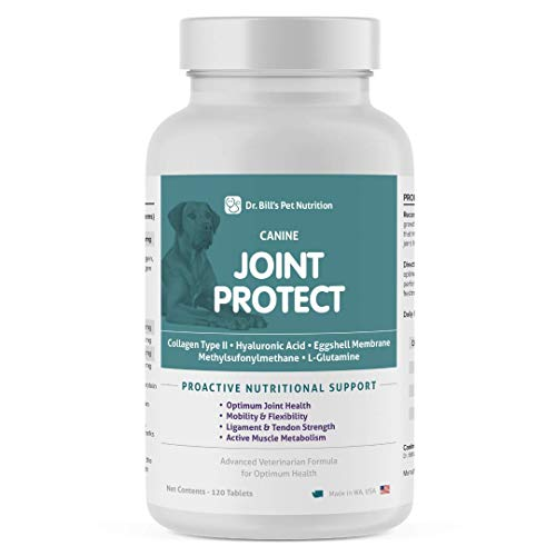 Dr. Bill's Canine Joint Protect | Pet Supplement | Joint Support for Dogs | Contains Collagen Type II  Hyaluronic Acid  Eggshell Membrane  Methylsulfonylmethane  and L-Glutamine