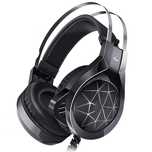 SFBBBO Auriculares Gaming Auriculares para Juegos con micrófono, Auriculares con Sonido Envolvente y luz para Ps4Professional Gamer Pc Laptop N1NOlight
