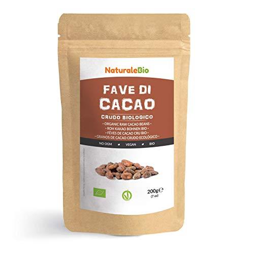 Granos de Cacao Crudo Ecológico 200g. 100 % Bio, Natural y Puro. Cultivado en Perú a...