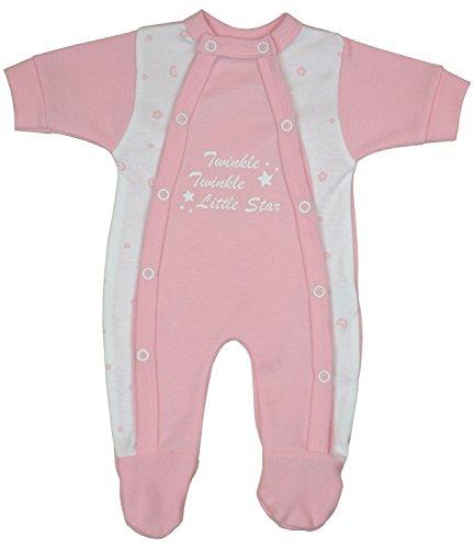 Babyprem Frühchen Baby Kleidung Schlafanzüge Strampler Kleiner Sterne 44-50cm ROSA 2.5-3.4Kg