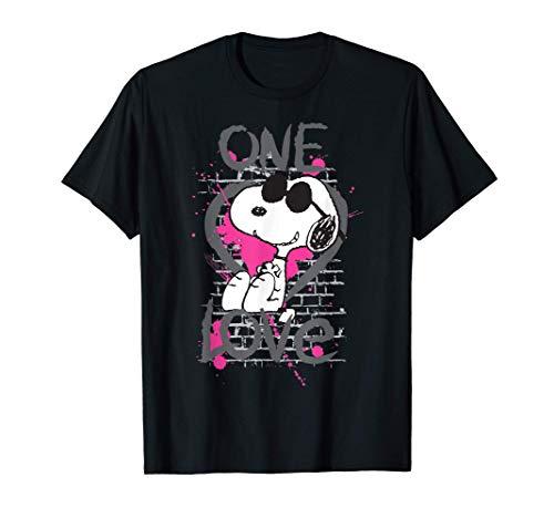 US Peanuts Snoopy Graphic One Love 01 Camiseta