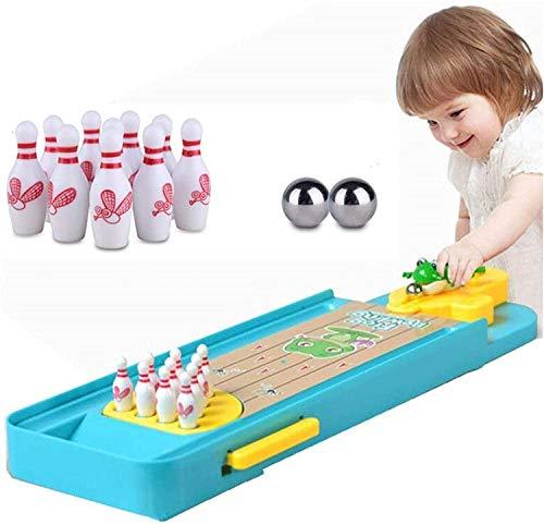 Pppby Juego de bolos de mesa mini juego de bolos de escritorio, juego de bolos de rana, mesa de bolos, juguete para niños, juego de acción y regalos de cumpleaños