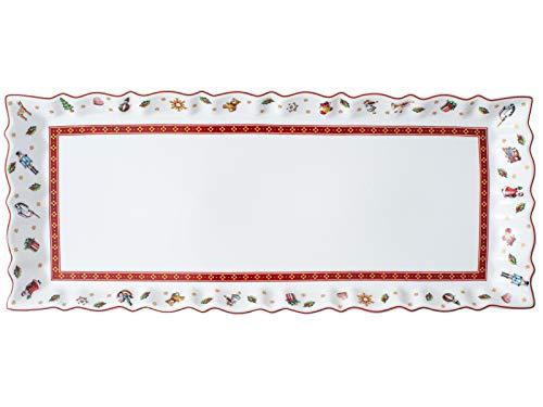 Villeroy & Boch Toys Delight Königskuchenplatte, Premium Porcelain, weiß, 39 x 16 cm