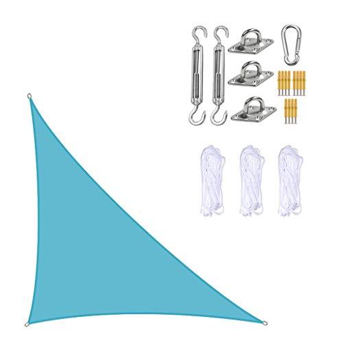 Toldo Vela de Sombra Triangle Sun Shade Sail con Kit de fijación Poliéster Impermeable Sombra Sombra Sombra Toldo Anti-UV UV Bloque Tarjeta de Protector Solar Transpirable