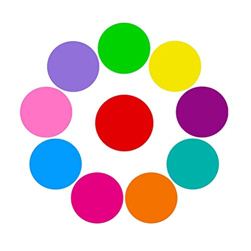 Toyvian Trocken abwischen Kreise Whiteboard Marker abnehmbare Dot Wall Decal Pops für Dills 10pcs