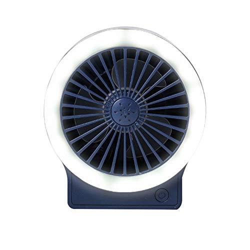 Pequeño ventilador portátil, tres engranajes con lámpara de carga USB, fuerte viento, plegable, mesita de noche, pequeño ventilador para estudiantes y niñas
