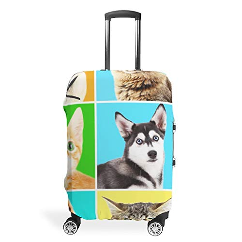 3D-print, meerdere patronen, bagagebeschermhoes, beschermhoes, wasbaar, 18/20/24/28/32 inch, voor handbagage