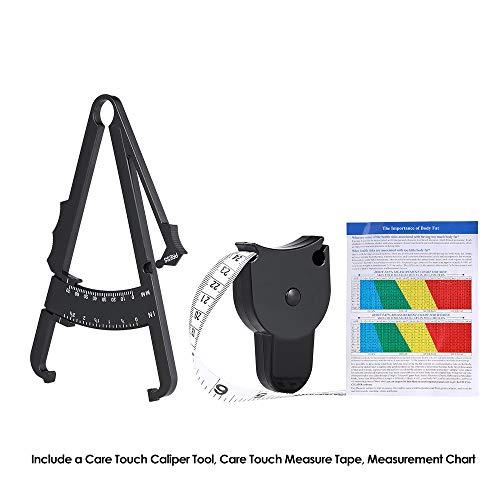 Fat Tester Set, persönlicher Körperfett-Messschieber mit Maßband, genaues Maßband für den Gesundheitszustand, Fitness-Gewichtsverlust, Messung der Taille, Arme, Beine und Schenkel
