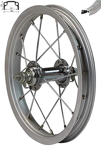 Redondo 12 Zoll Vorderrad Laufrad Fahrrad Kasten Felge Kinderrad Silber