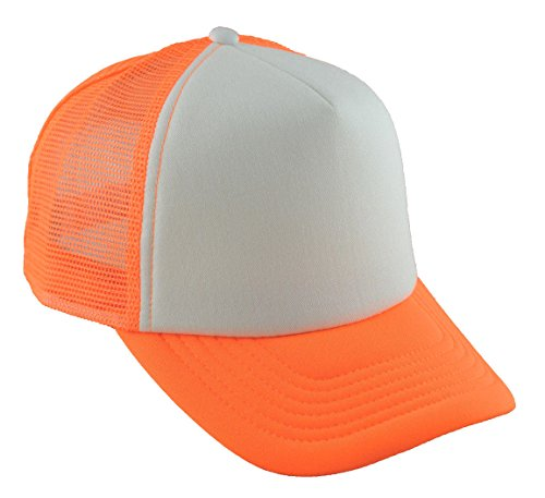 G Summer Trucker Mesh Cap White Neon Orange