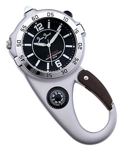 JEAN JACOT C335211 - Reloj de pulsera para exteriores con mosquetón y...