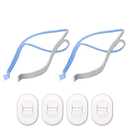 Replacement Headgear for The ResMed Airfit P10 Nasal Pillow CPAP Mask. (2 Pack) Includes Free 4 Replacement Adjustment Clips.