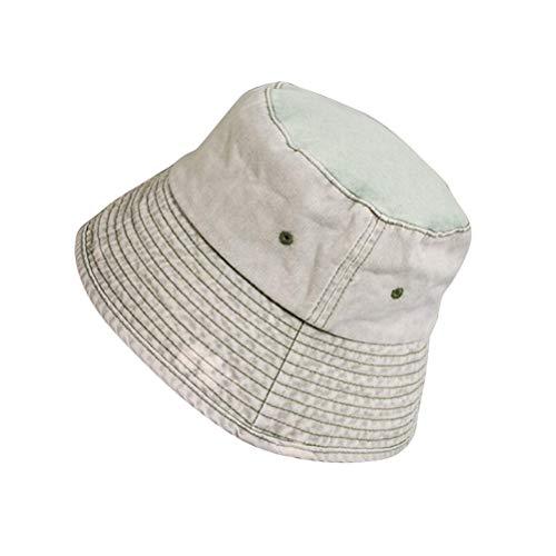 TENDYCOCO Japanischer Stil Eimer Hut Mode Einfach Lässig Kurze Krempe Sonnenhut Faltbare Outdoor Cap (Beige)