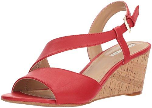 TAHARI Women's TA-Sally Wedge Sandal, red, 7.5 M US
