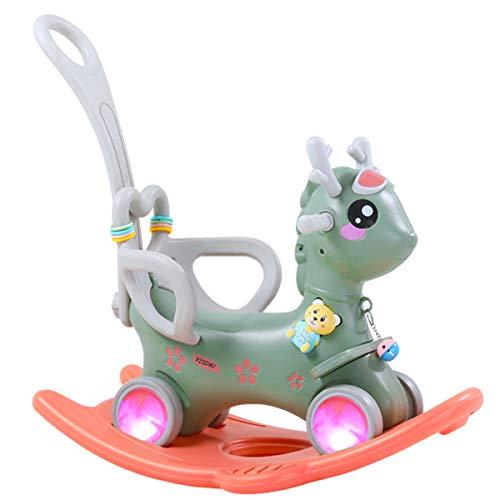 ZHKXBG Baby Schaukelpferd, Kinder Schaukel, Kind Schaukel Tier, Indoor Outdoor Baby Schaukelstuhl, Geschenk für 1-3Y,Grün,Rocking Horse