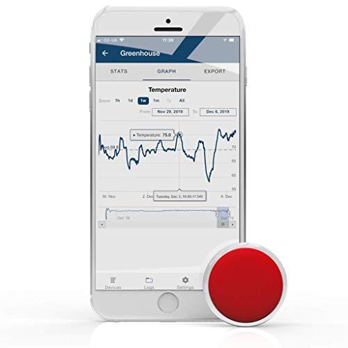 TEMPO DISC™ Bluetooth Thermometer-Sensor und DatenloggerTemperatur-Fernüberwachung.Für iOS und Android.
