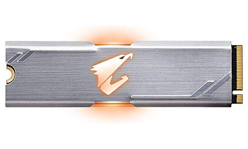 Gigabyte AORUS RGB NVMe M.2 256GB High Performance Gaming, Integrated Heatsink, Toshiba 3D NAND, DDR Cache Buffer, 5 Year Warranty SSD GP-ASM2NE2256GTTDR