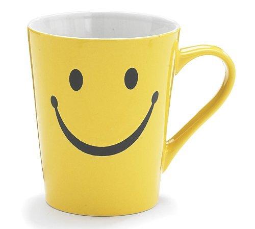 1 X Smiley Happy Face 14 oz Stoneware Coffee Mug/Cup