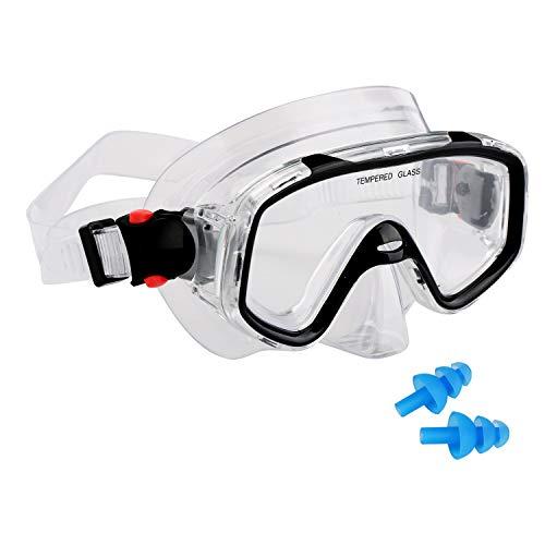 AQUA A DIVE SPORTS Kids Scuba Snorkeling Diving Mask for Scuba Dive Snorkel mask Swim Goggles Free Diving for Kids Swimming (Kids 3-9 Years-PVC)
