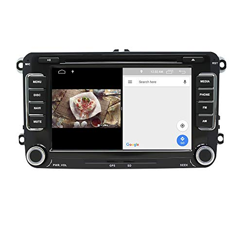 EUNAVI Android 9 Autoradio für VW Tiguan Golf Touran Skoda Kodiaq Octavia Superb, 2 Din Radio Navigationssystem: DSP DVD-Player Bluetooth WiFi DAB, 7 Zoll HD Touchscreen 4G+64G USB sd GPS Free Camera