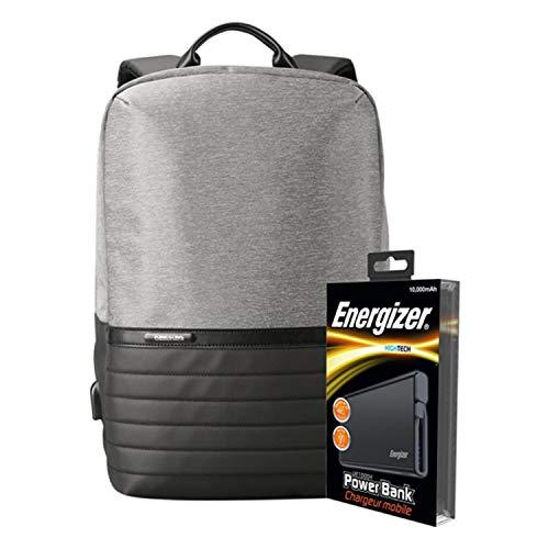 Energizer EPB001 Laptop-Ladetasche mit UE10004 Powerbank, Grau