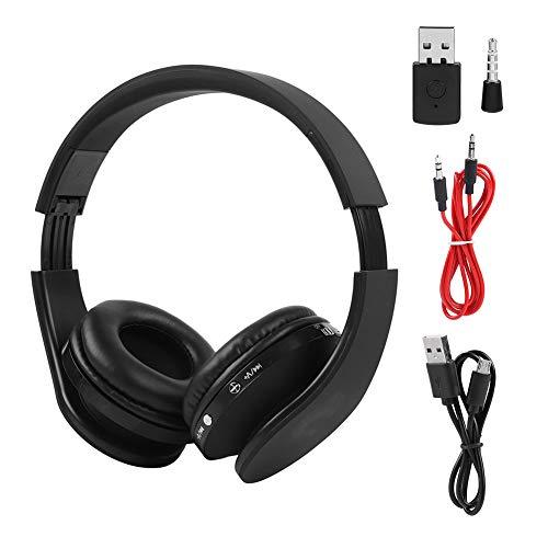 CUTULAMO Auriculares Estéreo, Auriculares Inalámbricos para Juegos Transmisor Audio Visual Sincronizado Sin Demora De Audio Manténgase Conectado para La Consola para Ver Televisión