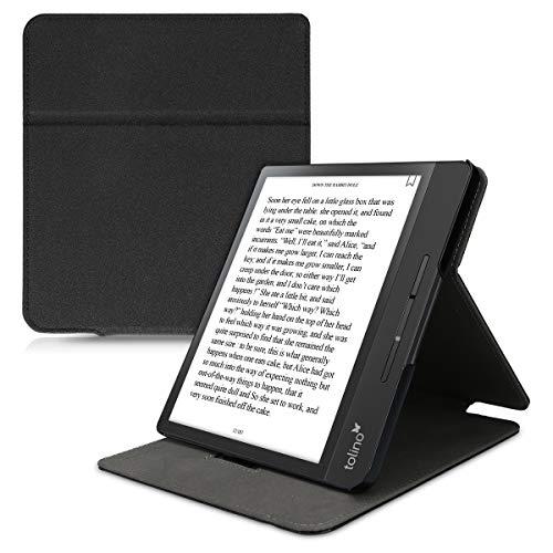 kwmobile Hülle kompatibel mit Tolino Epos 2 - Schlaufe Ständer - e-Reader Schutzhülle - Schwarz