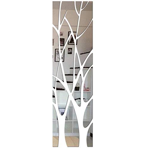 QJKai 21 Piezas de Espejo de Pared Cuerpo Entero de Árbol Grande de Espejo para Puerta de