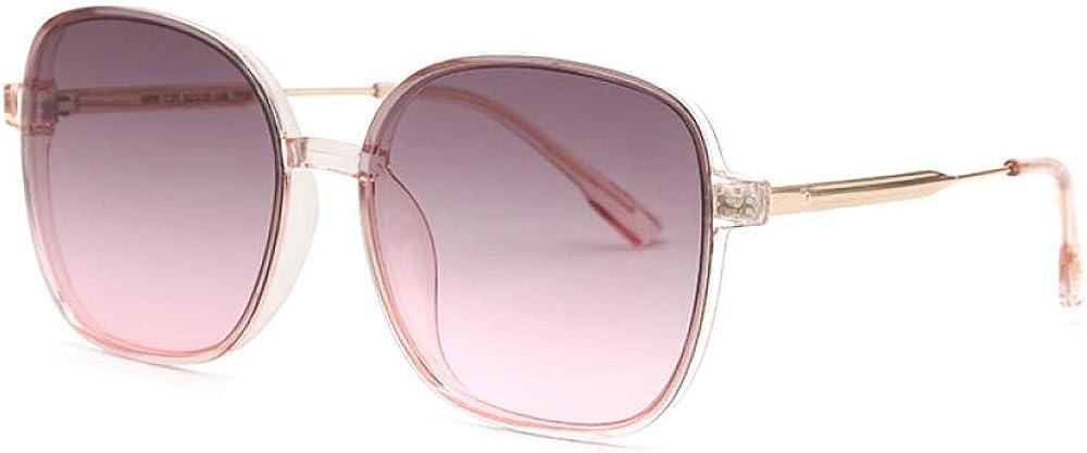 FIFY Dames élégantes lunettes de soleil en plein air voyage miroir carré grand cadre rétro mode rue tir miroir décoratif DY6606 B