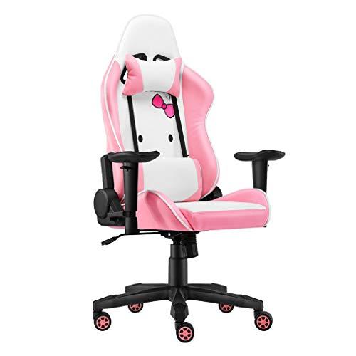 Chaise de bureau Chaise D'ordinateur Chaise De Princesse Rose Chaise D'ordinateur À La Maison Chaise D'ancre Chaise De Dortoir Étudiant Chaise De Jeu E-sport Dossier De Chaise 3D Wrap, Conception Ergo