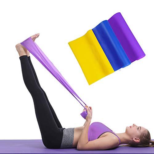 SIAMHOO Bandas de resistencia con 3 niveles de resistencia, bandas de látex para gimnasio en casa, entrenamiento de fuerza, bandas de yoga y fitness